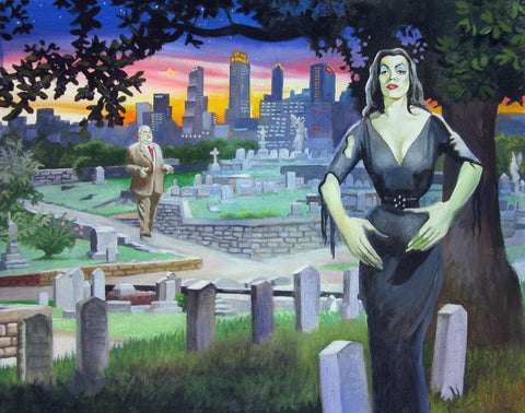 Plan 9 From Oakland Cemetery - Atlanta Art Print by Buddy McCue by Buddy McCue - ModernTribe