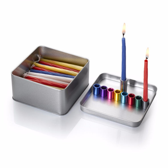 Thinking Out of the Box Menorah by Laura Cowan