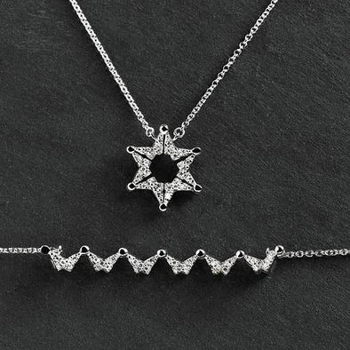 Butterfly Star of David Necklace
