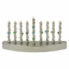 Multi-Color Beaded Menorah