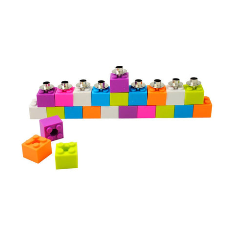 Building Block Menorah - Ages 3+ by Decor Craft - ModernTribe - 1