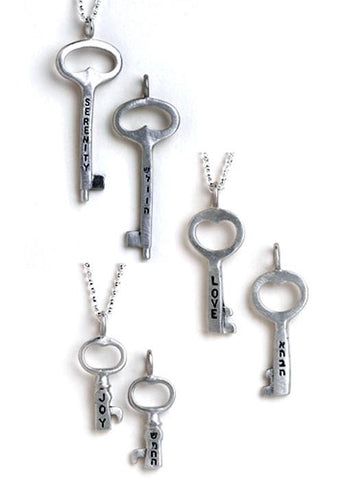 Hebrew Key Necklaces by Emily Rosenfeld by Emily Rosenfeld - ModernTribe - 1