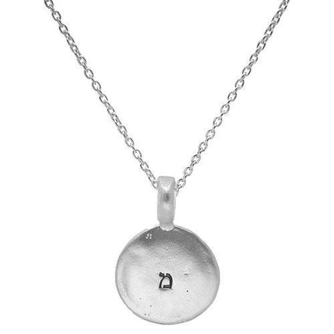 Silver Disc Personalized Pendant by Liza Shtromberg by Liza Shtromberg - ModernTribe