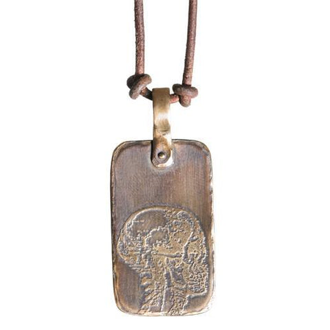 Skull Dog Tag Necklace by Marla Studio - ModernTribe