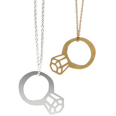 Polli Ring Bling Necklaces - Gold or Stainless Steel by Polli - ModernTribe - 1