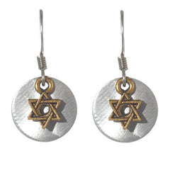 Jewish Star Disc Necklace and Earrings by Jillery by Jillery - ModernTribe - 1