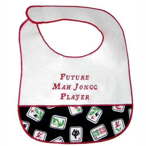 Davida Bib Black Future Mah Jongg Player Bib