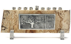 Pewter and Maple Menorah by Emily Rosenfeld by Emily Rosenfeld - ModernTribe