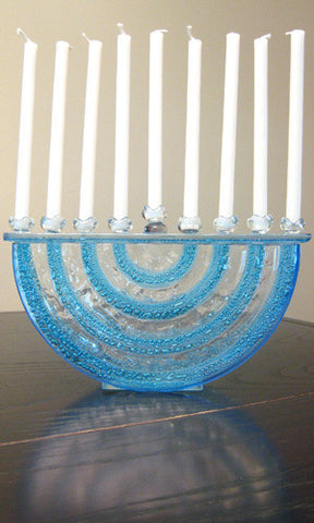 Glass Menorah by Etai Mager by Agam - ModernTribe
