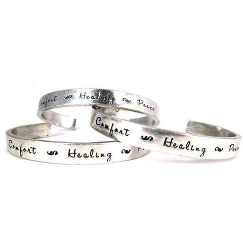Comfort, Healing, Peace Pewter Cuff by Whitney Howard Designs - ModernTribe - 1