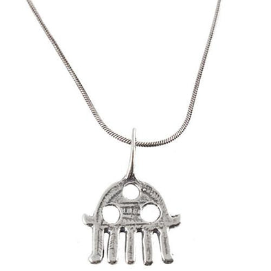 Primitive Hamsa Necklace by Agam - ModernTribe
