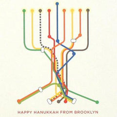 Happy Hanukkah From Brooklyn - Set of 6 Cards by Other - ModernTribe - 1