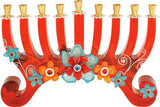 Lalo Treasures Funky Menorah -- In Red by Orna Lalo - ModernTribe - 1