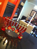 Lalo Treasures Funky Menorah -- In Red by Orna Lalo - ModernTribe - 2