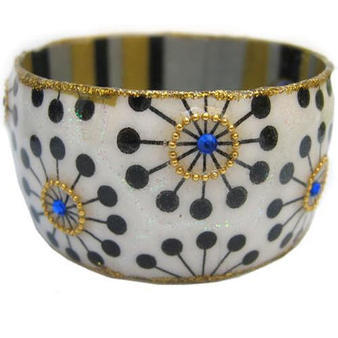 Retro Mod Dot Bangle Bracelet by Iris Design by Iris Design - ModernTribe