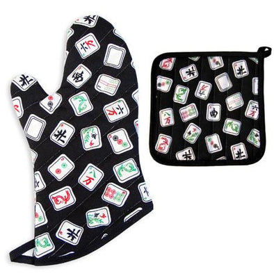 Davida Oven Mitt / Pot Holder Default Mah Jongg Pot Holder Set