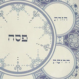Delftware Inspired Seder Plate by Barbara Shaw - ModernTribe - 2