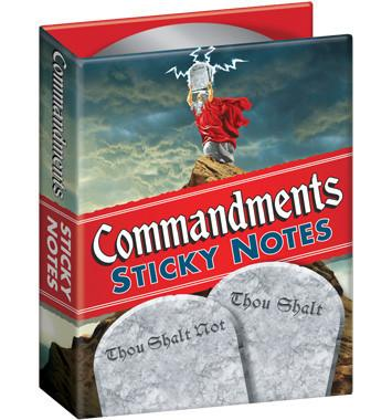 Commandments Sticky Notes by Unemployed Philosopher's Guild - ModernTribe