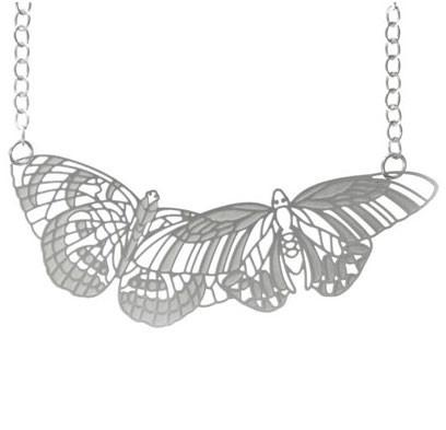 Polli Butterfly Necklace in Stainless Steel by Polli - ModernTribe - 1