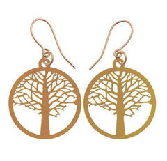 Polli Elm Tree of Life Earrings - Gold by Polli - ModernTribe - 1