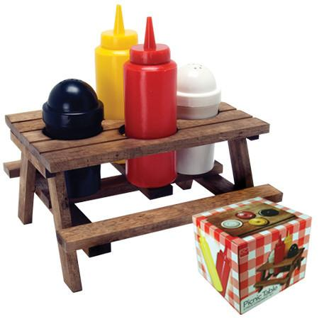 Picnic Table Condiment Set by Decor Craft - ModernTribe