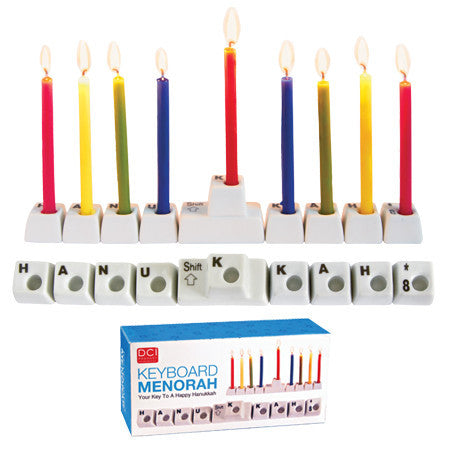 Keyboard Keys Menorah by Decor Craft - ModernTribe