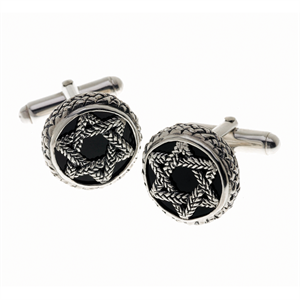 Star of David Cufflinks by Cynthia Gale GeoArt - ModernTribe