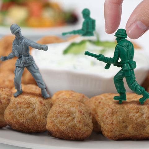 Food Fighters Party Picks -- Toy Soldiers For Your Latkes by Fred - ModernTribe - 1