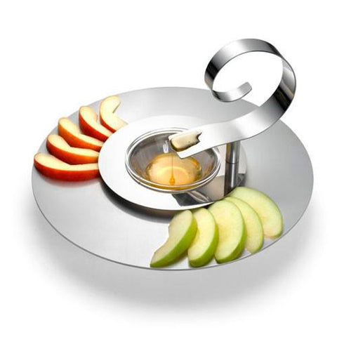 Spiral Spoon Apple & Honey Plate by Laura Cowan by Laura Cowan - ModernTribe - 1