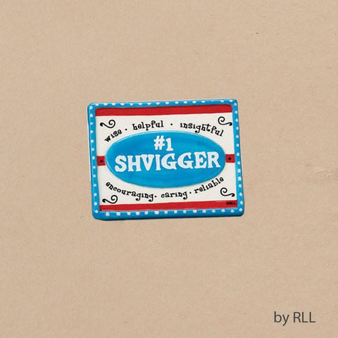 Shvigger Hand-painted Ceramic Magnet by Rite Lite - ModernTribe