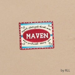 """Maven"" Hand-painted Ceramic Magnet by Rite Lite - ModernTribe"