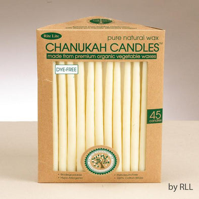Chanukah Candles -- Organic Vegetable Wax, Ivory by Rite Lite - ModernTribe - 1