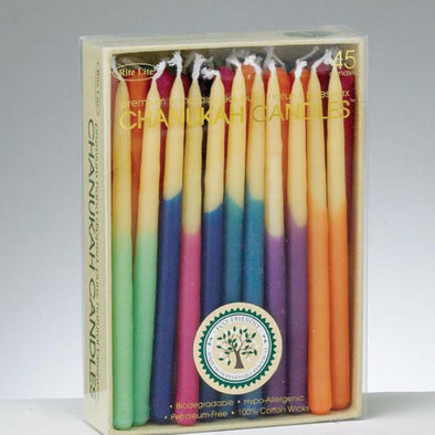 Chanukah Candles -- Hand-dipped Beeswax, Assorted Colors by Rite Lite - ModernTribe