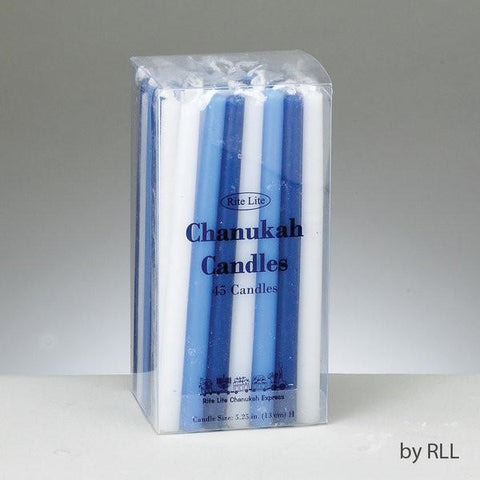 Deluxe Chanukah Candles - Assorted Blue, Light Blue & White by Rite Lite - ModernTribe - 1