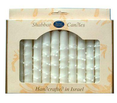 White Safed Shabbat Candles | Set of 12 by Safed - ModernTribe