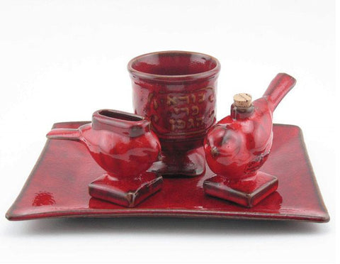 Red Bird Havdalah and Shabbat Set by Dani Goren - ModernTribe
