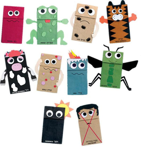 Ten Plagues Puppet Kit - Ages 4+ by Rite Lite - ModernTribe - 1