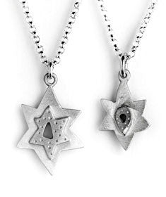 Emily Rosenfeld Necklaces Silver Mother & Daughter Star of David Necklaces by Emily Rosenfeld