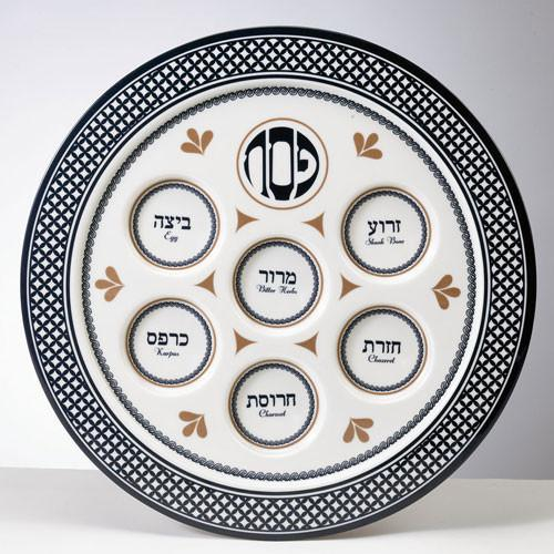 Rite Lite Seder Plate Case of 24 Value Melamine Seder Plate - Case of 24