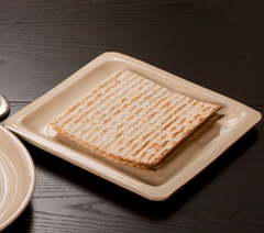 White Glaze Ceramic Matzah Plate by Vichinsky - ModernTribe