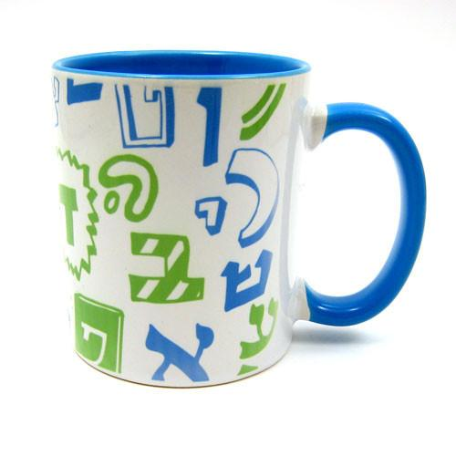 Alef Bet with Attitude Mug by Barbara Shaw - ModernTribe - 1