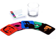 Israeli Heroes Coaster Set of 5 by Ofek Wertman - ModernTribe