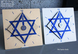 Star of David Layers Clock by Ofek Wertman - ModernTribe - 2