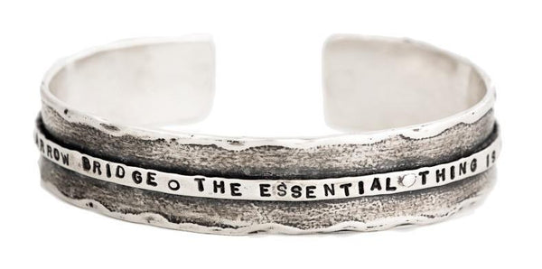Marla Studio Bracelets All The World is a Narrow Bridge Cuff Bracelet by Marla Studio - Silver or Bronze