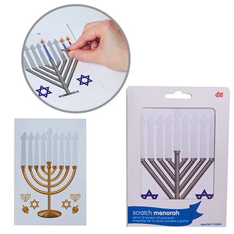Scratch-Off Menorahs - Set of 12 by Decor Craft - ModernTribe
