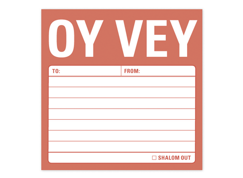 Knock Knock Desk or Office Accessory Oy Vey Oy Vey Jewish Sticky Notes