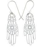 Hamsa Earrings with Evil Eye