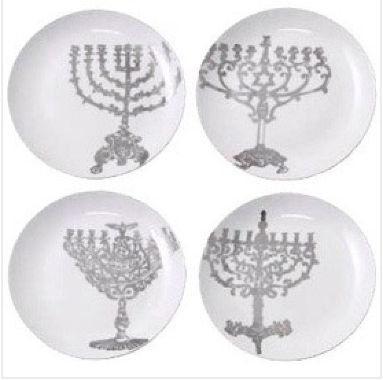 Lights of Hanukkah Plates - Set of 4 - ModernTribe
