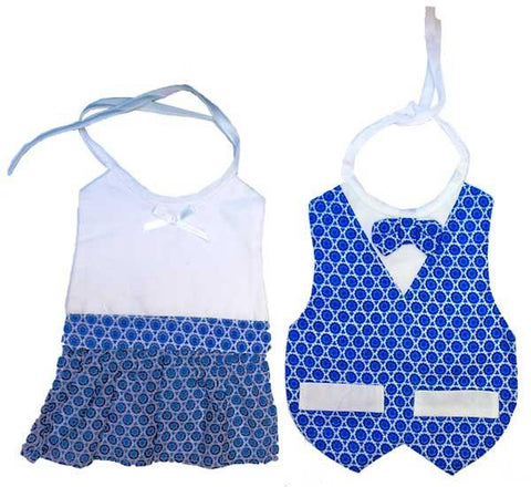 Fancy Star of David Bibs for Girls & Boys by Davida - ModernTribe - 1