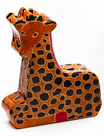 Tooled Leather Tzedakah Box - Giraffe by Copa Judaica - ModernTribe